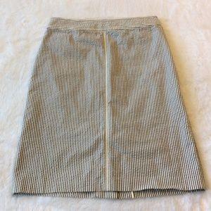 Flaw J Crew Striped Seersucker Skirt Knee Length 4